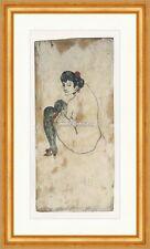 Frau mit grünen Strümpfen Aktzeichnung Erotik Strumpfband Pablo Picasso 025