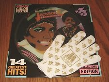 JACKSON 5 MICHAEL JACKSON PICTURE DISC 14 GREATEST HITS WITH GLOVE AND POSTER
