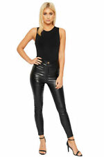 Leather Coloured High Rise Jeans for Women