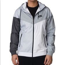 Nike Sportswear Windrunner Hooded Jacket Mens size XXL Grey Black White