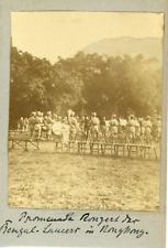 Inde, India, Bengale, rassemblement soldats Indiens, harmonie   Vintage citrate