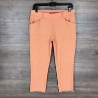 "Anthropologie Cartonnier Women's Size 6 Charlie Trouser Pants Orange 24"" Inseam"
