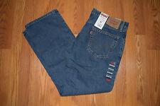 NWT Mens 505 LEVIS Straight Fit 5 Pocket Dark Wash Jeans Sz 34 W 30 L