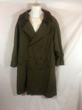 Men's London Fog Green Trench Coat Removable Lining Sz 40 Short