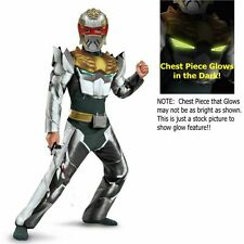 Power Ranger Size 7-8 M Megaforce Robo Knight Muscle Costume New Child Halloween