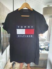 Tommy Hilfiger Big Logo Flag Spellout T-Shirt, Tommy Jeans Sz- Large Black