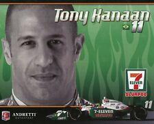 "2010 INDY 500 TONY KANAAN USA ANDRETTI AUTOSPORT INDYCAR 6 1/2""X8"" HERO CARD"