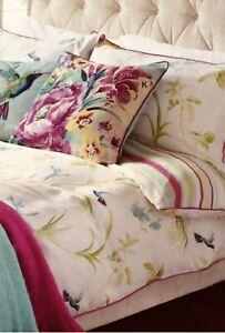 Laura Ashley King Size orchid apple Duvet Cover Set Pink/green/blue Birds Floral