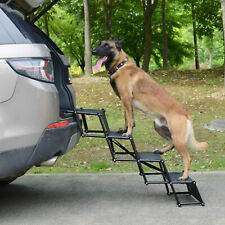 More details for foldable folding pet dog car boot access steps ladder stairs strong lightweight