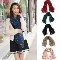 Stole Long Scarf Shawl Wrap Chiffon Polka Dot