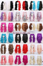 """Hot 18""""Color Lolita curly Split type Lori Girl With Ponytails Cosplay Wig WX"""