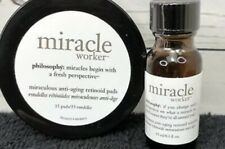 NEW PHILOSOPHY MIRACLE WORKER SET RETINOID PADS 15 COUNT CT SOLUTION .5 OZ
