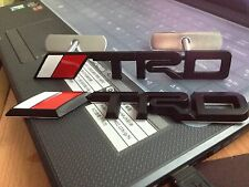 2XBlack 3D TRD front grill grille emblem & Rear Boot car badge for Camry Corolla