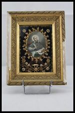 † V.H.M RELIQUARY FRANCIS de SALES FOUNDER 1 RELIC QUILLINGS FRENCH VISITATION †