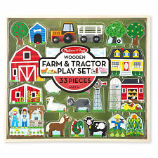 Melissa And Doug Wooden Farm And Tractor Play Set NEW Toys Kids Fun