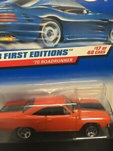 1:64 Hot Wheels '70 Plymouth Roadrunner 661 - 17/40  (LC) '98 First Editions/x3