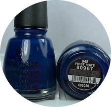 China Glaze Nail Polish - First Mate 948 Opaque Dark Greyish Blue Cream Lacquer