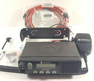 Motorola CM300 VHF 32 Channel 40w Mobile Radio w/New Accessories