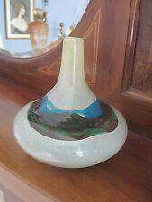 LOVELY VINTAGE MDINA ART GLASS VASE SIGNED