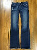 BKE Buckle Stella Womens Low Stretch Distressed Destroyed Blue Jeans 29 x 33.5