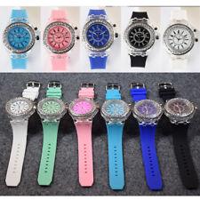 Geneva LED Wrist Watch Backlight Crystal Quartz Sport Waterproof Unisex Kid Gift