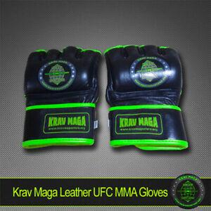 KRAV MAGA PRO UFC MMA LEATHER GLOVES S SMALL- Men/Women/Teens Boys Girls