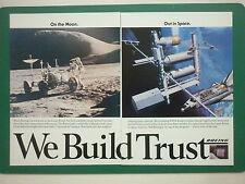 6/84 PUB BOEING SPACE NASA LUNAR ROVER MOON SPACE STATION ARIANESPACE ARIANE AD