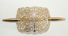 SALE Filigree Vintage Hair Clip Pin West Germany Light Weight Never Worn Gold C