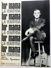 CHARLES AZNAVOUR Sheet Music FOR MAMA Ludlow Publ. 60's POP Lounge FRENCH