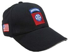 Cappello Baseball 82 nd AIRBORNE Colore Nero,Air soft, paintball