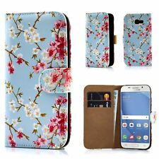 32nd® Floral Design Leather Wallet Case for Samsung Galaxy A5 (2017) DESIGNER