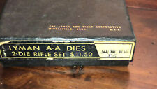 Lyman  used 30-30 FULL LENGTH 2 Die Set USED fits 30-30 win With Casing Holder