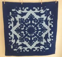 Ohana Quilt Works Hawaiian Quilt Wall Hanging Blue Dolphin 42 X42
