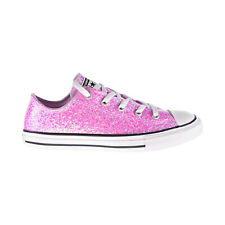 Converse Chuck Taylor All Star Ox Glitter Kids' Shoes Lilac Mist-Black 665978C