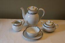 Vintage Bavaria Tirschenreuth 4 Piece Teapot, T/C Saucer, Creamer & Sugar Set