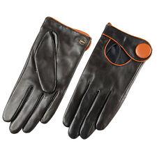 Womens Genuine Nappa Leather Gloves Black Brown 2 Tone More Color On Sale #E28