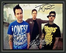 BLINK 182  A4 SIGNED AUTOGRAPHED PHOTO POSTER  FREE POST