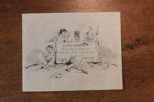 1892 Octave Uzanne Carte de voeux artistique par Félicien Rops gravée Courboin