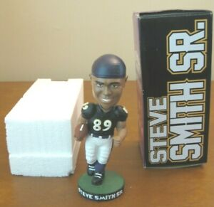Steve Smith Sr. #89 of the Baltimore Ravens NFL Vintage Bobblehead