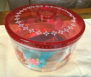 NEW PIONEER WOMAN COOKIE CONTAINER MERRY CHRISTMAS COWBOY BOOTS SNOWFLAKES
