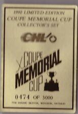 1990 Hockey 7th Inning Sketch Coupe Memorial Cup Set Break /3k Kitchener Rangers
