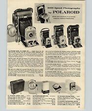 1961 PAPER AD Camera Polaroid 150 Bob Kit 958 110A Kodak Cavalcade Projector