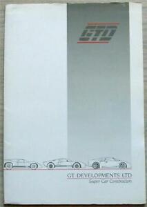 GTD R42 Car Press Pack 1994 Brochure Photo GT Developments Ltd