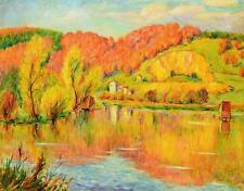 "Erwin Schweitzer 1887-1968 Stuttgart / Gemälde ""Itzelberger See bei Königsbronn"""