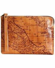 PATRICIA NASH TOOLED MAP PRINT CASSINI WRISTLET - LEATHER