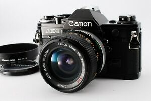 【MINT】Canon AE-1 Black 35mm SLR Camera / FD 24mm F2.8 ssc s.s.c from Japan #435
