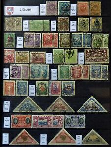 Litauen Lietuva Mittellitauen Kleine Sammlung 1919-1940
