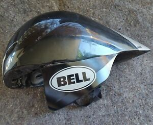 Bell Javelin Burn Out black & silver competition helmet size Small