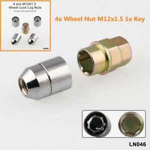 4+1 Car Wheel Alloy Steel Anti Theft Security Lock M12x1.5 Lug Nut Accessories