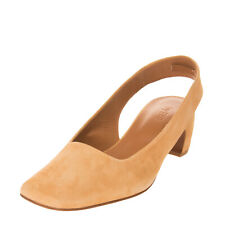RRP€250 BY FAR Suede Leather Slingback Mule Shoes EU 40 UK 7 US 10 HANDMADE Heel